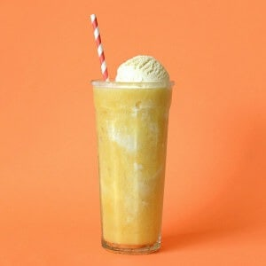 orange ice cream smoothie