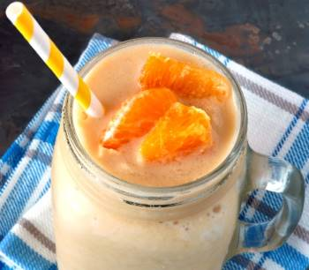 orange vegan smoothie