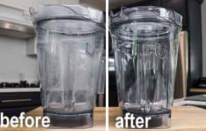 cleaning cloudy vitamix container