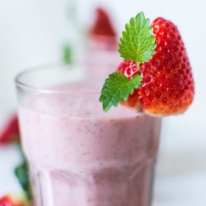 strawberry cube smoothie