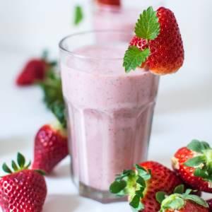 strawberry mint ninja milkshake